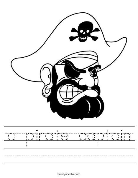 Pirate Head Worksheet