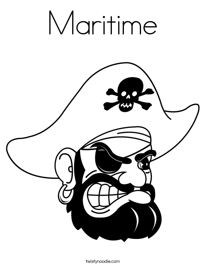 Maritime Coloring Page