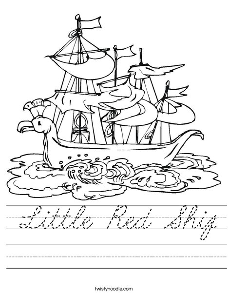 Pirate Ship Worksheet