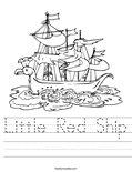 Little Red Ship Worksheet