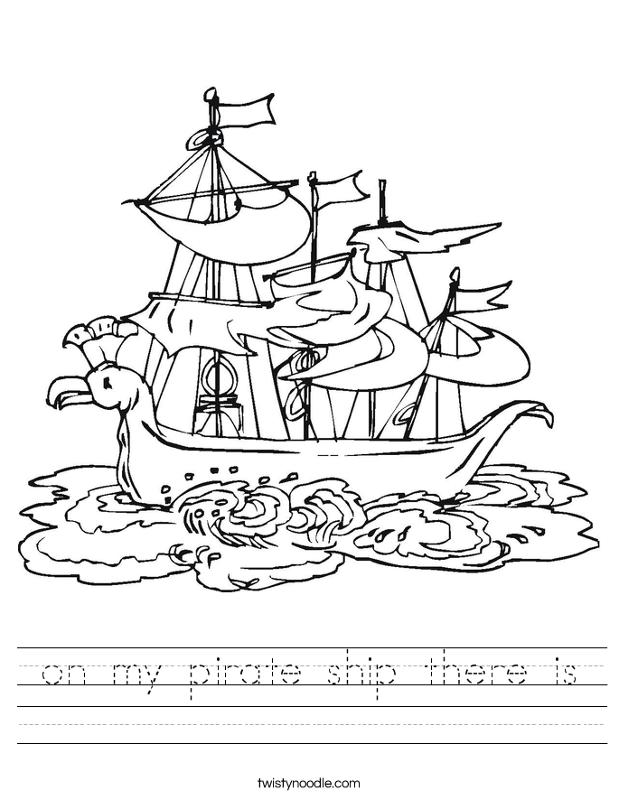 on my pirate ship there is Worksheet