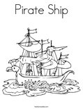 Pirate ShipColoring Page