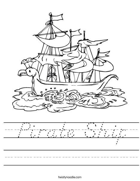 Pirate Ship Worksheet