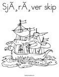 Sjørøver skipColoring Page