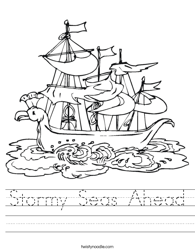 Stormy Seas Ahead Worksheet