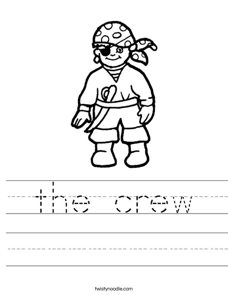 Pirate Worksheet