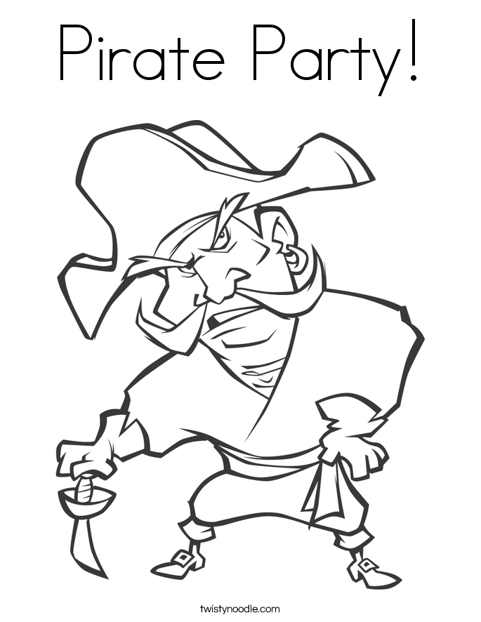 Pirate Party! Coloring Page