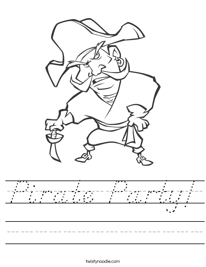 Pirate Party! Worksheet