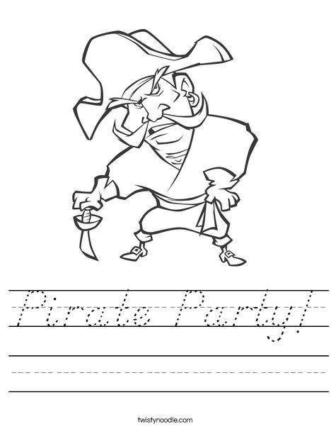 Pirate1 Worksheet