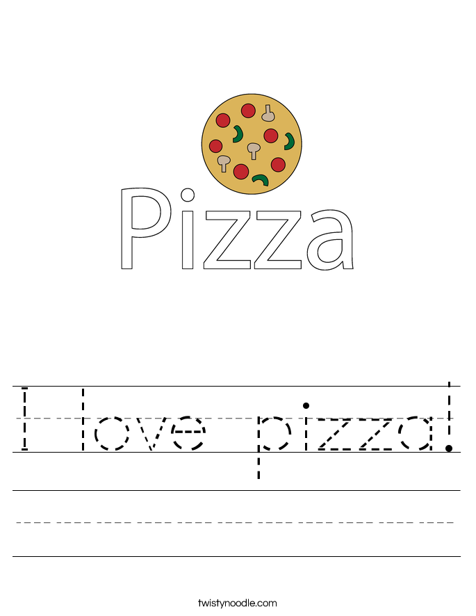 I love pizza! Worksheet