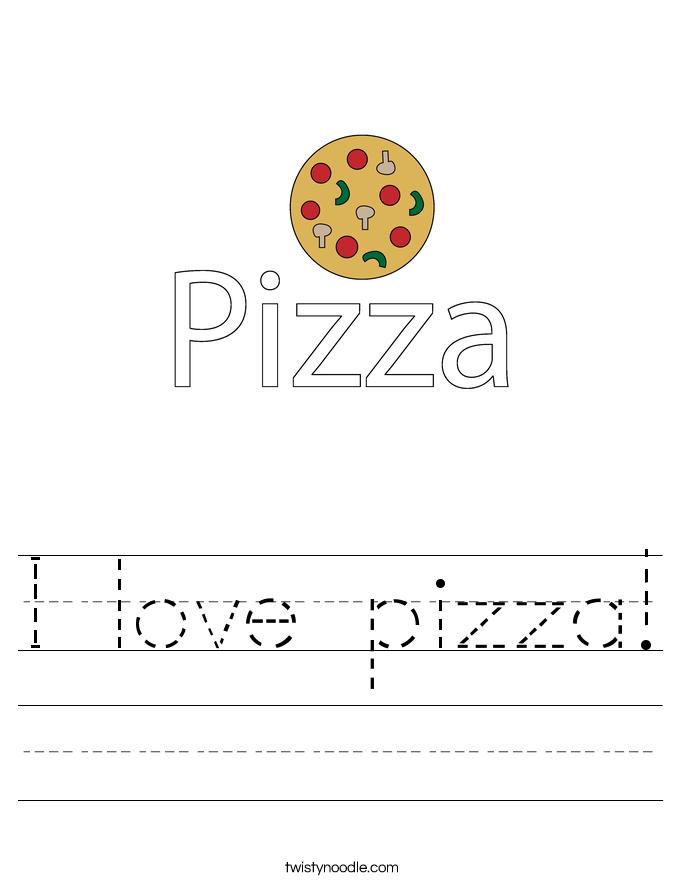 I love pizza! Worksheet