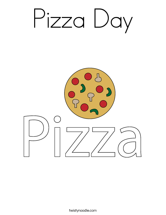 Pizza Day Coloring Page