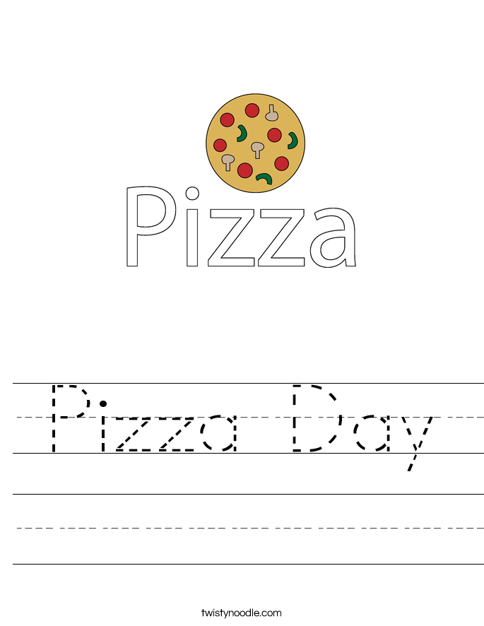 Pizza Day Worksheet