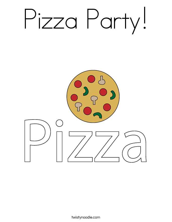 pizza party coloring page - Pizza Coloring Pages