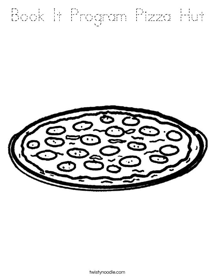 Book It Program Pizza Hut Coloring Page