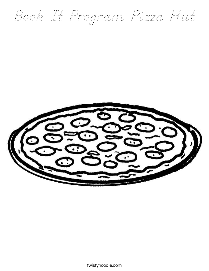 Book It Program Pizza Hut Coloring Page