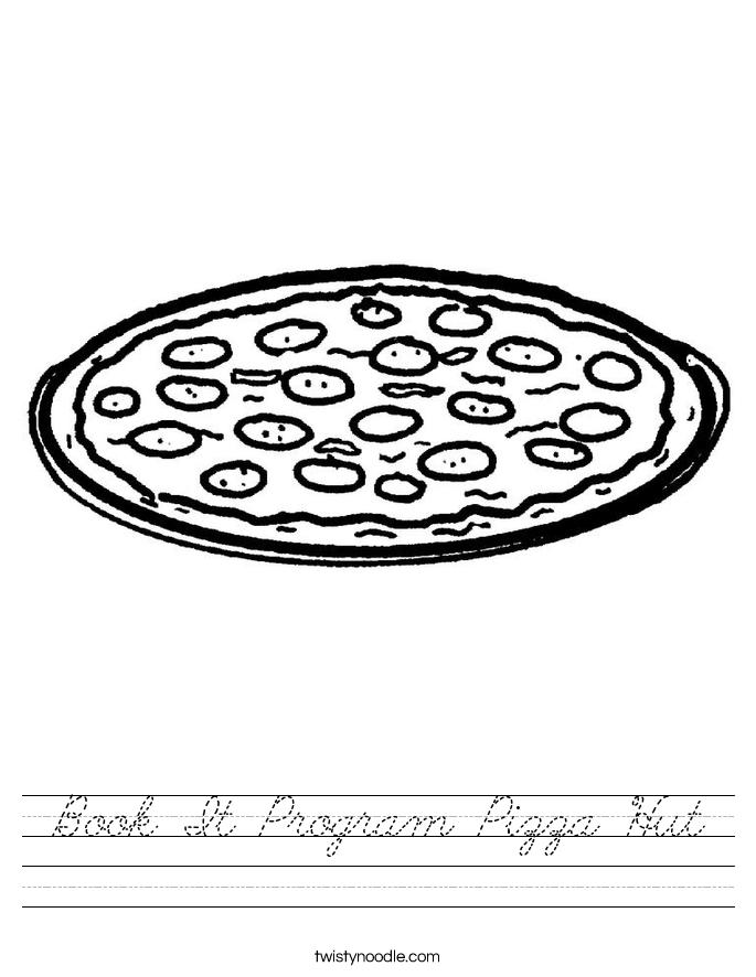 Book It Program Pizza Hut Worksheet