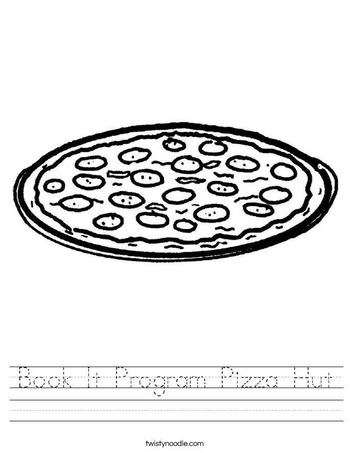 Book It Program Pizza Hut Worksheet