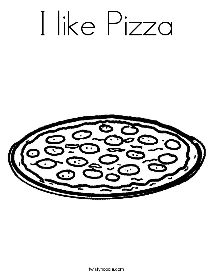 I like Pizza Coloring Page