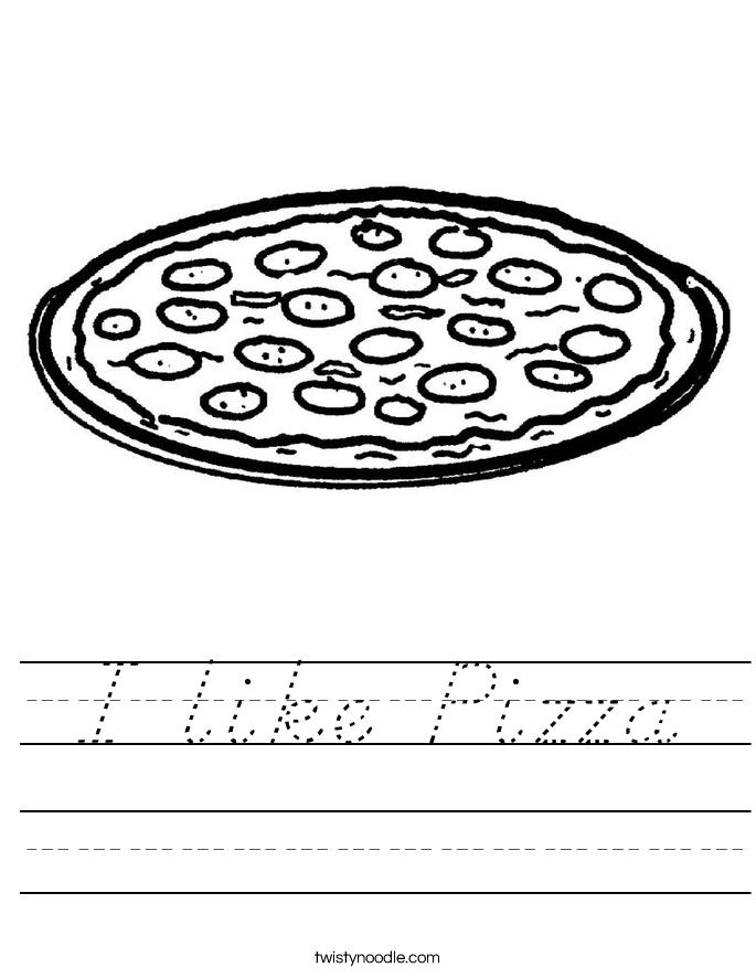 I like Pizza Worksheet
