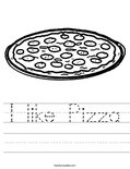 I like Pizza Worksheet