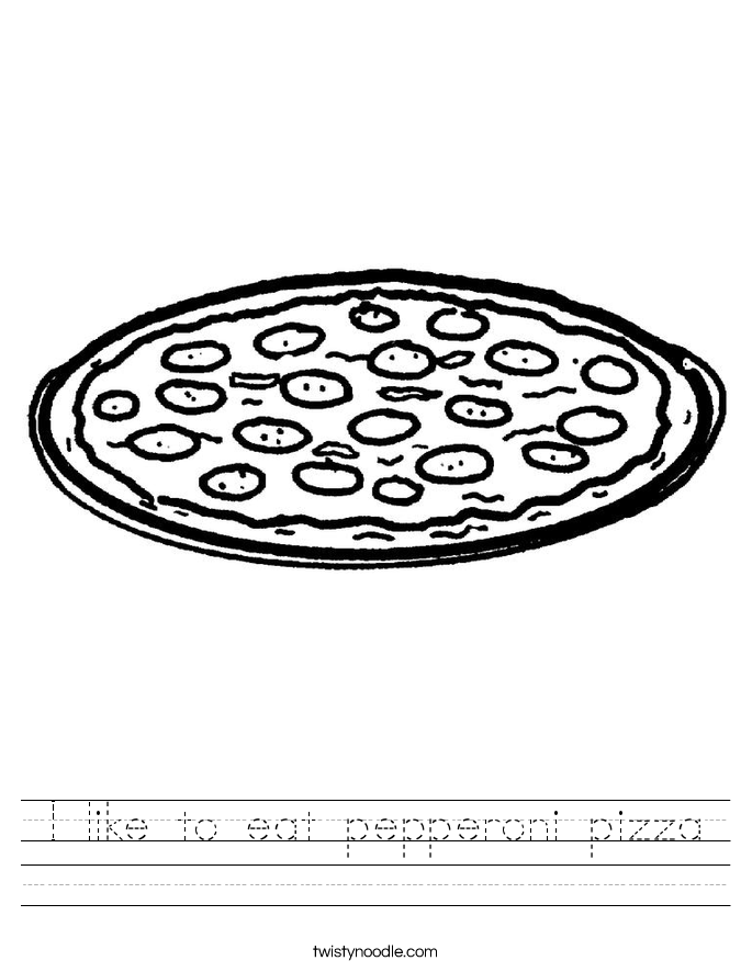 I like to eat pepperoni pizza Worksheet