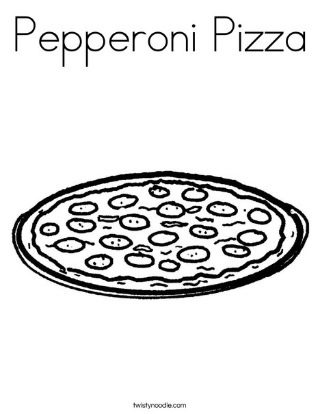 Pepperoni Pizza Coloring Page - Twisty Noodle