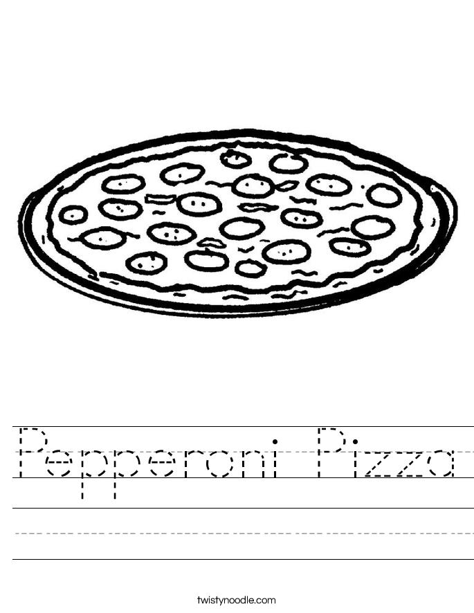 Pepperoni Pizza Worksheet