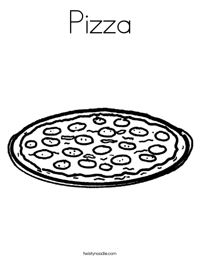 Printable Pizza Coloring Coloring Coloring Pages