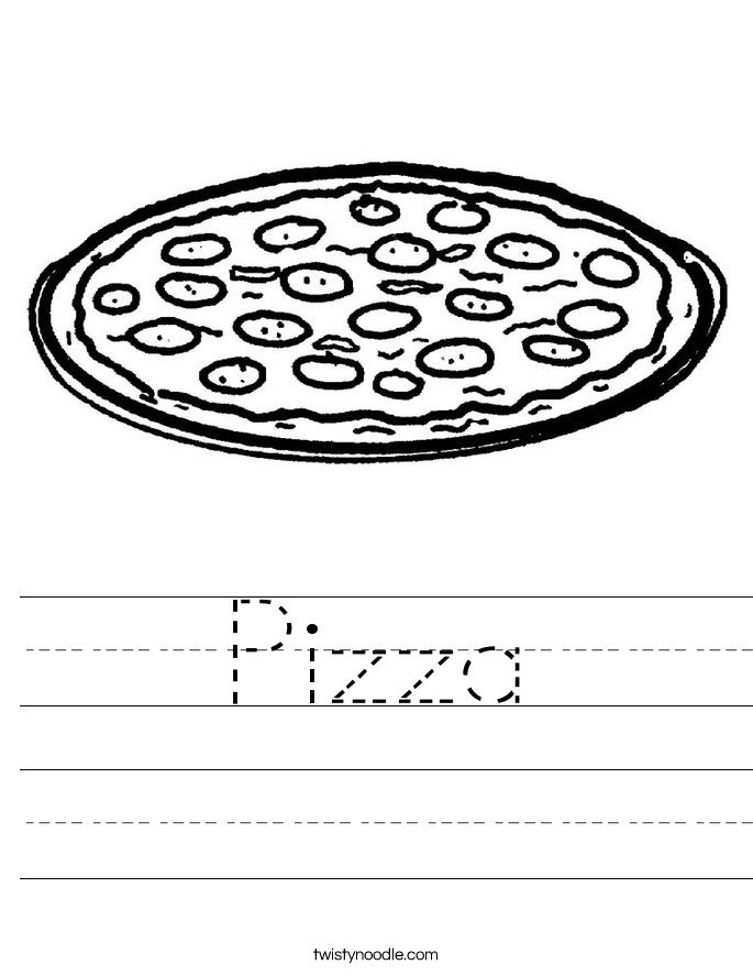 Pizza Worksheet