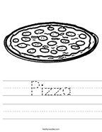 Pizza Handwriting Sheet