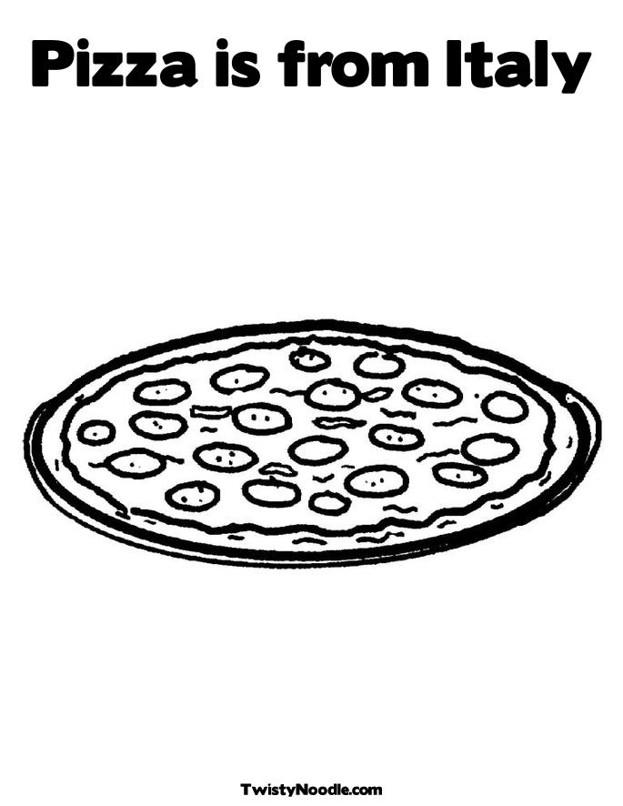 Coloring Pages Italy. Pepperoni Coloring Page. title=