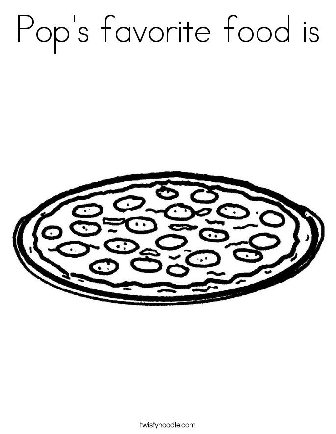 Pop's favorite food is Coloring Page
