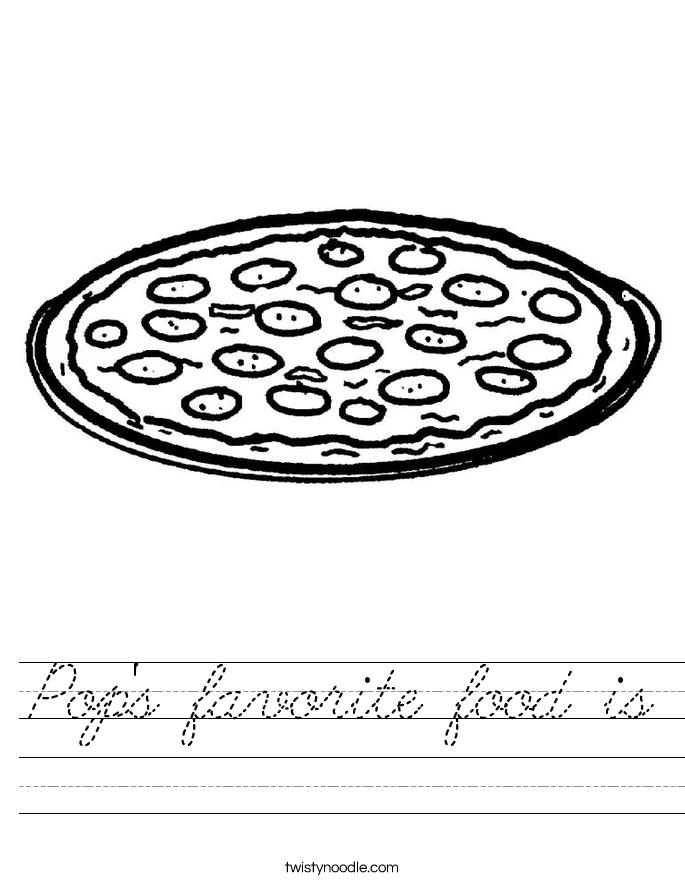 Pop's favorite food is Worksheet