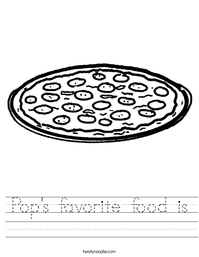 Pop's favorite food is Worksheet