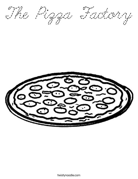 Pizza with Pepperoni Coloring Page