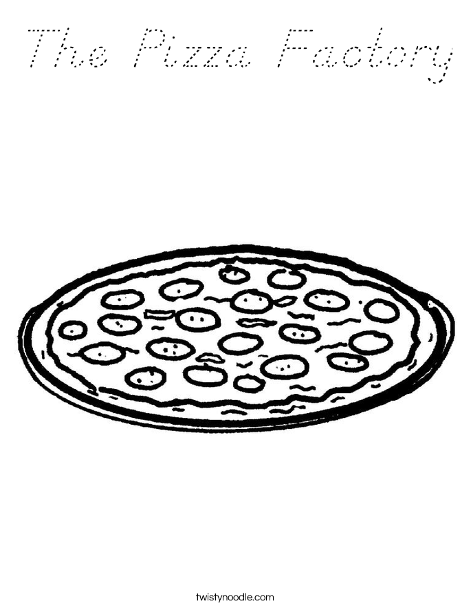 The Pizza Factory Coloring Page