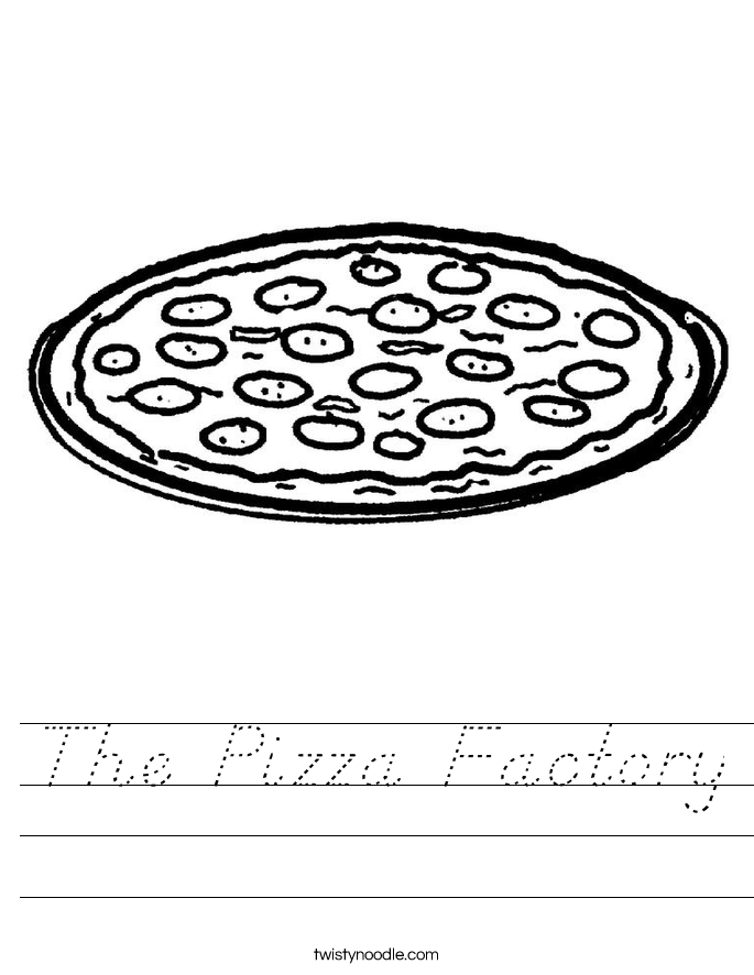The Pizza Factory Worksheet