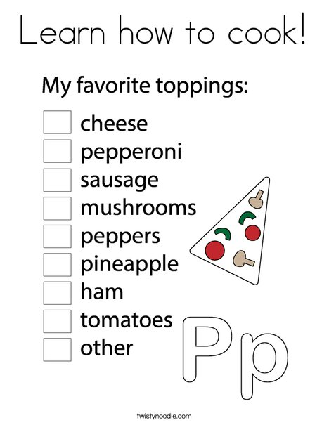 Pizza Chef Coloring Page