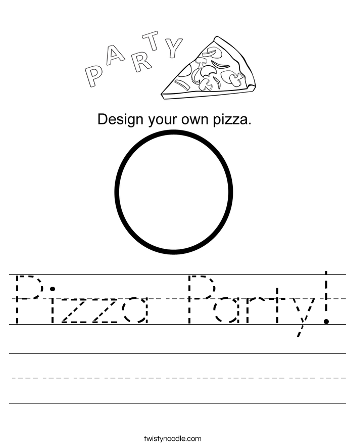 Pizza Party! Worksheet