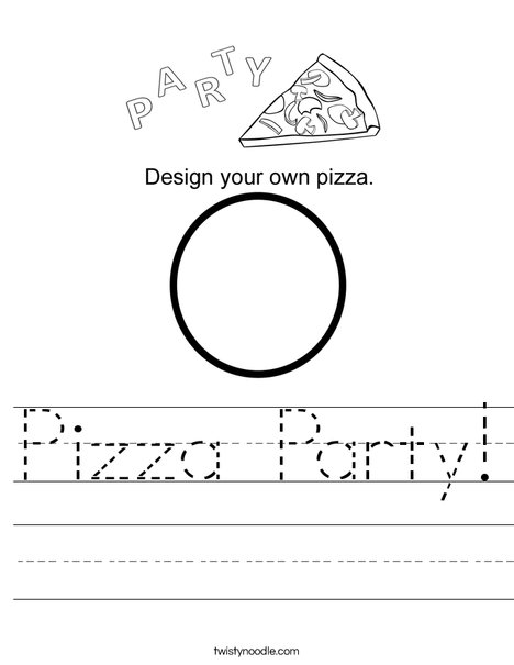 Pizza Party Worksheet