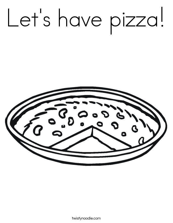 Let's have pizza! Coloring Page