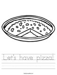 Let's have pizza! Worksheet