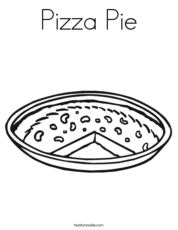 pizza pie coloring page - Pizza Coloring Pages