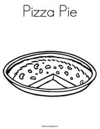 Pizza Pie Coloring Page