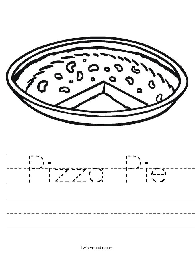 Pizza Pie Worksheet
