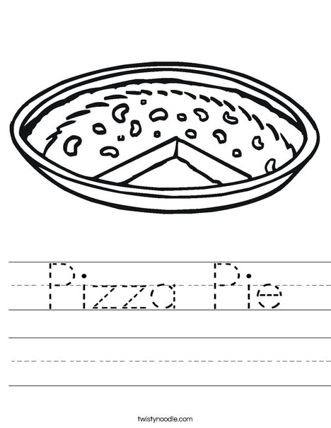 Pizza Pie Worksheet