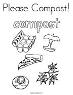 Please Compost Coloring Page