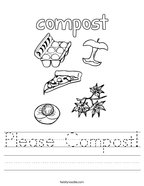 Please Compost Handwriting Sheet