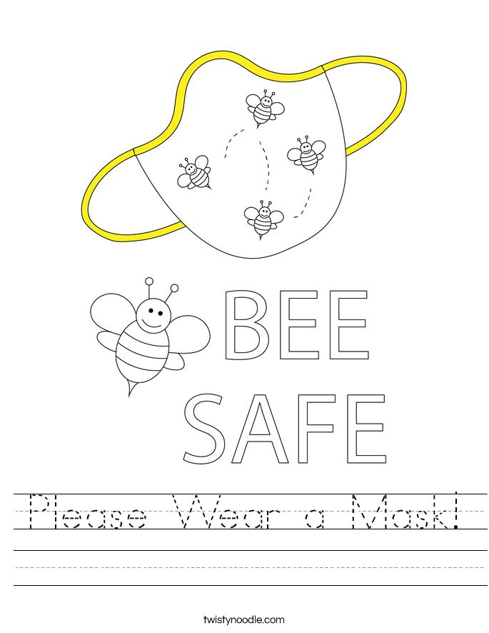 Please Wear a Mask! Worksheet